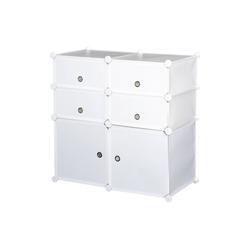 HOMCOM Kommode Regal mit Aufbewahrungsboxen