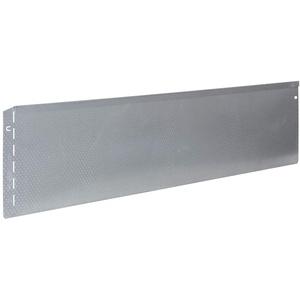 bellissa Rasenkante aus Metall mit Noppen-Struktur - 99688 - Stahlblech feuerverzinkt, silberfarbig - 118 x 20 cm, Nutzlänge 1,15 m - Mit patentierter Verbindungstechnik