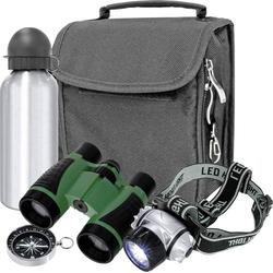 Bresser Optik Fernglas Outdoor-Set Junior 4 x 30mm Dachkant Schwarz, Grün 8830000