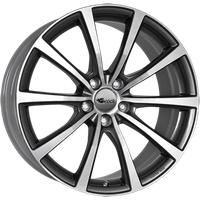 BROCK B32 himalaya-grey front-poliert 8.5x18 ET30 - LK5/112 ML66.6 Alufelge grau