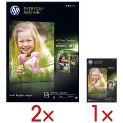 2 Pack Fotopapier »HP everyday photo paper« inkl. 1 Pack Fotopapier »HP everyday weiß, HP