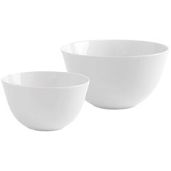 Kahla Geschirr-Set Schüssel-Set, BBQ, weiß, 2 tlg (2-tlg), Porzellan