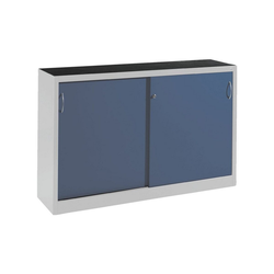CP Schiebetürenschrank Mehrzweckschrank, komplett montiert blau 160 cm x 100 cm x 40 cm