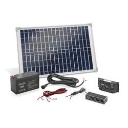 Solar Inselanlage 20 Watt inkl. Akku und Mehrfachsteckdose