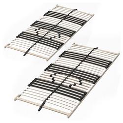 Lattenrost, 7-Zonen-2er Set Premium Härtegradverstellung 90x200cm, VitaliSpa®