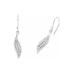 Ohrring für Damen, Sterling Silber 925, Swarovski Kristall® amor Silber