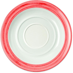 WACA Untertasse Bistro, (4 Stück), Melamin, 14 cm rot