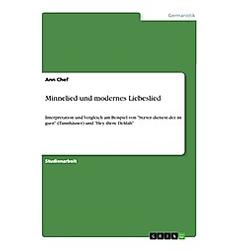 Minnelied und modernes Liebeslied. Ann Chef  - Buch