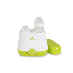 Cangaroo Babyflaschenwärmer Flaschenwärmer BabyDuo, für 2 Flaschen, Sterilisation von Kleinteilen grün