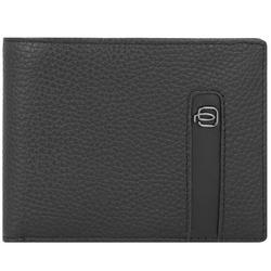 Piquadro Black Square Geldbörse RFID Leder 12,5 cm black