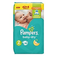 Pampers Baby-Dry 3-6 kg 46 Stück