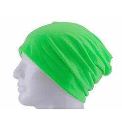 Long Beanie XXL Mütze Slouch Damen Herren Kinder Mütze - neon green