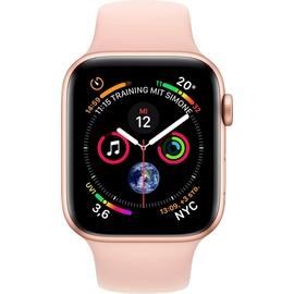 Apple Watch Series 4 (GPS) 44mm Aluminiumgehäuse gold mit Sportarmband sandrosa