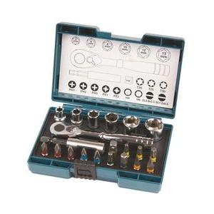Makita Werkzeugkoffer B-54081, Ratschen + Bit-Set, 21-teilig, im Klappkoffer