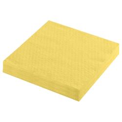 Servietten Prägeservietten 1-lagig, 33 x 33 cm, gelb, 100 Stk.