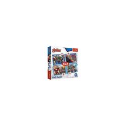Trefl Puzzle 4 in 1 Puzzle Brave Avengers - Disney Marvel The, Puzzleteile