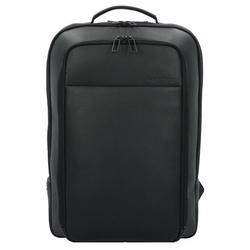 Salzen biznesowy Backpack Plecak biznesowy skórzany 43 cm total black
