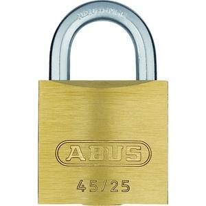 ABUS Vorhängeschloss 45/25 aus Messing - für Spinde, Werkzeugkisten, Koffer - 05081 - Level 2 - Messingfarben