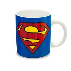 LOGOSHIRT Tasse mit Logo-Print Superman blau