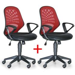Bürostuhl fler 1+1 gratis, rot