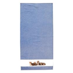 framsohn Duschtuch ''Katzen'' 75 x 150 cm Aqua - Blau