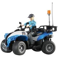Bruder 63010 - Polizei-Quad mit Polizistin und Ausstattung 1:16