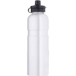 Aluminium mit Trinkventil-Schutzkappe Trinkflasche Silber