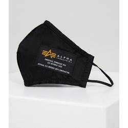 Alpha Industries Crew II Mund- und Nasenmaske, schwarz