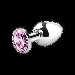 Metall-Analplug mit Kristall, 7,5 cm