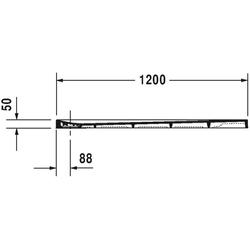 Duravit Rechteck-Duschwanne STONETTO 1200 x 900 x 50 mm weiß