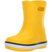 Crocs Unisex-Kinder Crocband Rain Boot K Gummistiefel, Yellow Navy 734, 33/34 (J2)
