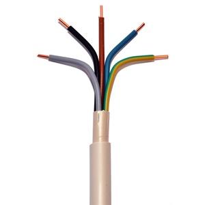 METERWARE NYM-J 5x2,5 mm2 RE Mantelleitung grau 5x2,5 qmm Installationsleitung Feuchtraumleitung, jede Menge eine Länge