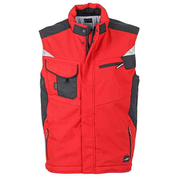 Workwear Winter Softshell Weste - STRONG - (red/black) 6XL
