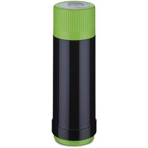 ROTPUNKT Isolierflasche 40 MAX Electric Edition 0,75 l | BPA-frei - gesundes Trinken | Made in Germany | Warm + Kalthaltung | Black/Electric Grashopper