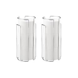 WENKO Toilettenpapierhalter Toilettenpapier-Ersatzrollenhalter Chrom, 2er Set, für 3 Rollen