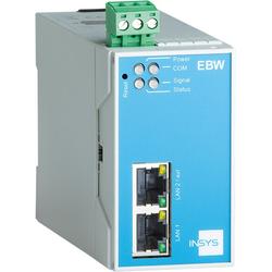 Insys icom EBW-E100, LAN-to-LAN-Router, VPN 2xEthernet 10/100BT, Router, Blau, Grau