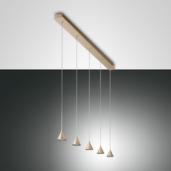 Fabas Luce Delta LED Pendelleuchte, 5-flg.