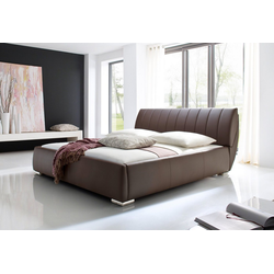 meise.möbel Polsterbett, mit Lattenrost und Bettkasten braun 198 cm x 240 cm x 40 cm