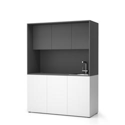 Nika küche mit waschbecken und wasserhahn 1481 x 600 x 2000 mm,