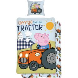Kinderbettwäsche Traktor, mit Comic Held