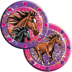 Folat Kindergeschirr-Set Partyset Horses, 62-tlg.