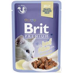 Brit Cat Rind Jelly Nassfutter Katzenfutter Frischebeutel (12 x 0,085 kg)