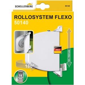 Schellenberg 50140 Gurtwickler Schraubring Flexo aufklappbar Mini, Weiß