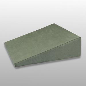 Fränkische Schlafmanufaktur Venenkissen viskoelastisch, Lagerungskissen, Beinkissen, Keilkissen, Farbe Grün