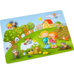 Haba Steckpuzzle Obstgarten, 8 Puzzleteile