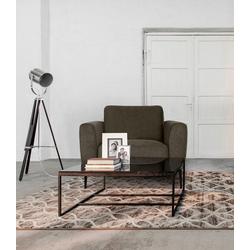 Places of Style Sessel Odda, mit Metallfüßen in besonderem Design grau