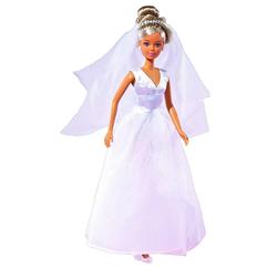 Simba Steffi Love Puppe Im Hochzeitskleid 2-sort.