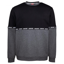 Sweatshirt SANTA CRUZ - Mixtape Crew Black/Charcoal Heather (BLACK-CHARCOAL HEATH)