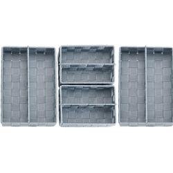 WENKO Aufbewahrungskorb Adria, (Set, 4 St.) grau Küchen-Ordnungshelfer Küchenhelfer Küche