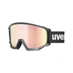 Uvex Skibrille Athletic CV, mirror rose S2 Skibrillenfarbe - Black, Skibrillengröße - Einheitsgröße, Skibrillenglas - Rose - Gold,